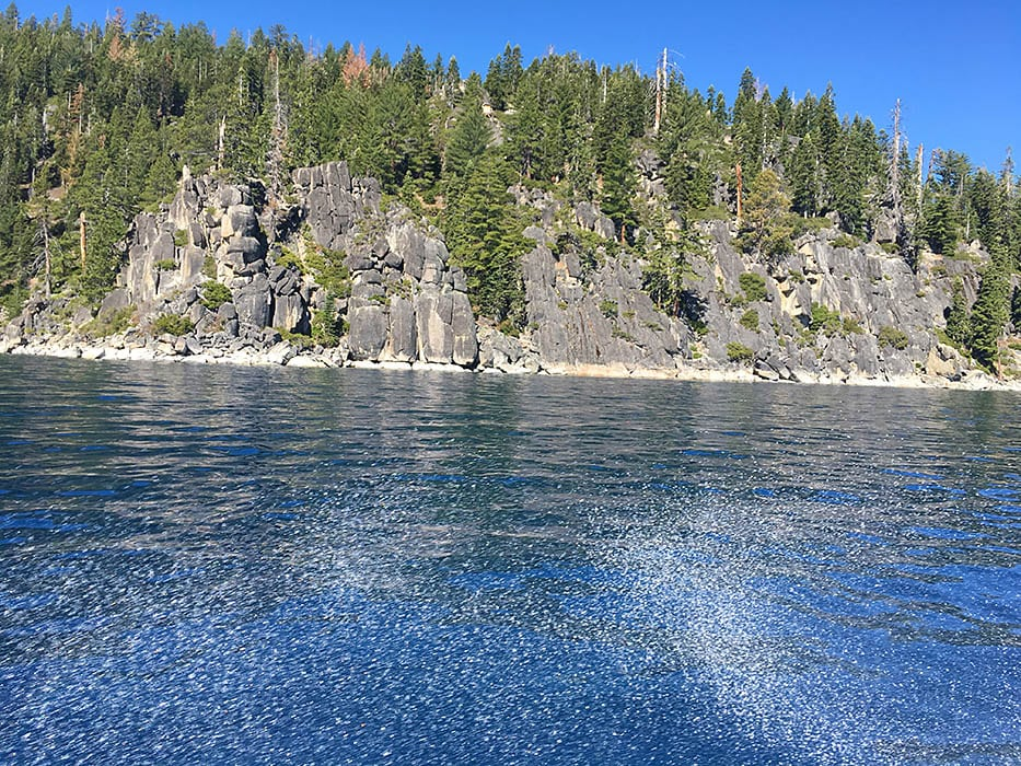 Coastline of South Lake Tahoe during the summer months