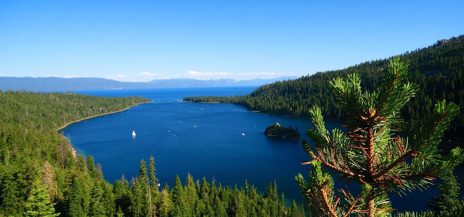 Beautiful Lake Tahoe during the summer months
