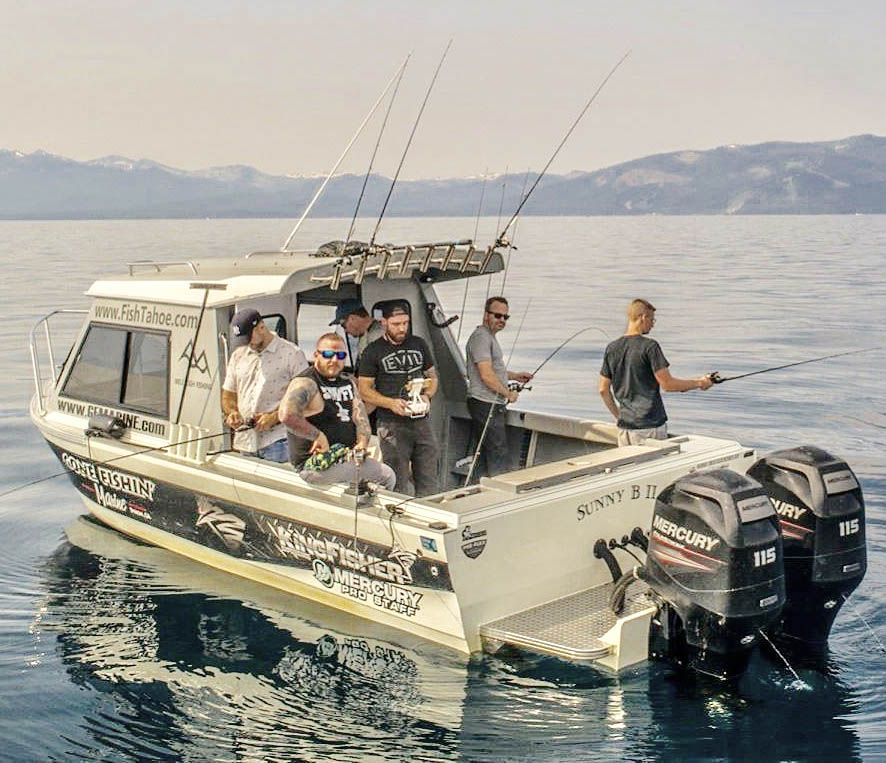 Anglers fishing with Mile High Fishing Charters