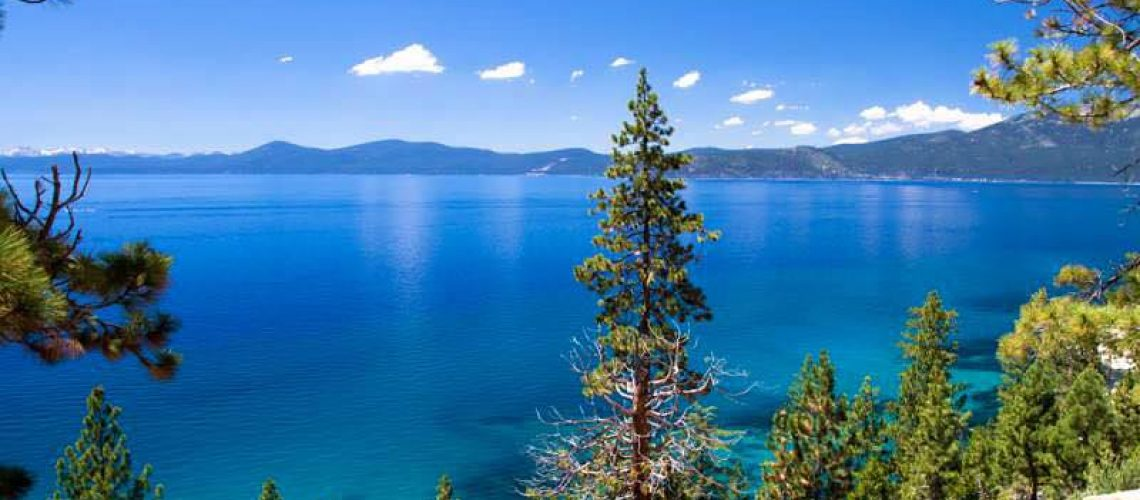 Gorgeous view of the Lake Tahoe in South Lake Tahoe